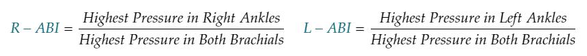 abi ankle brachial index equaltion